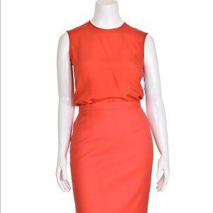 Escada x Margaretha Ley blood-orange silk blouse
